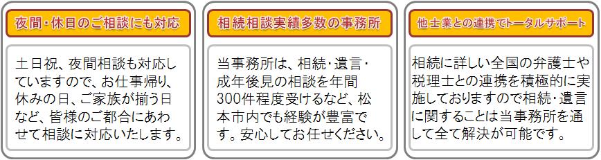 当事務所の選ばれる理由バナー②(中日本司法書士事務所)
